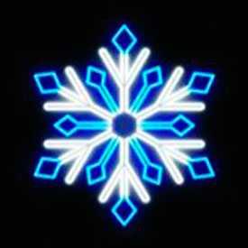 Световой мотив СНЕЖИНКА 0115 ( бело-синяя)