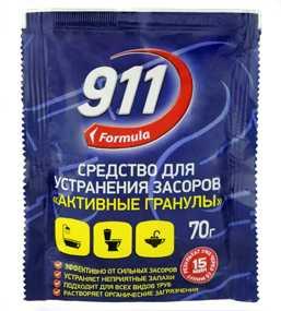Средство для засоров 911 Активные гранулы 70 гр