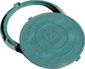 Люк полимерно-композитный (зеленый) тип Л Сандкор