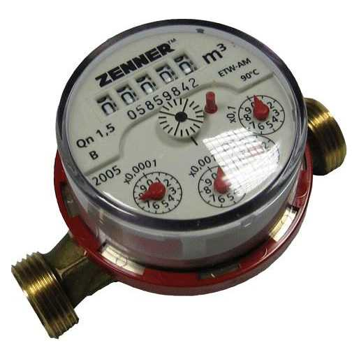 Многоструйный водосчетчик горячей воды Zenner