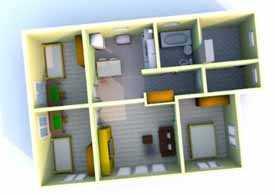 Готовый проект. Одноэтажный дом, 3+1