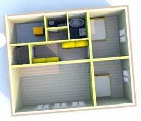 Готовый проект. Одноэтажный дом, 2+1