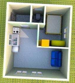 Готовый проект. Дачный домик. 30,7 м.кв.