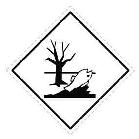 Наклейка «Вещество, опасное для окружающей среды»