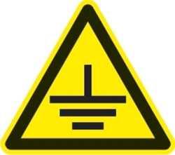 Наклейка информационная Заземление (0,11х0,11)