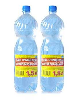 Вода дистиллированная 1,5 литров