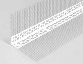 Уголок штукатурный алюминиевый с сеткой А-0,25-18,5-2500-75