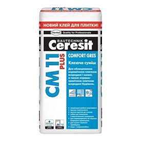 Растворная смесь Ceresit CM 11 Plus сухая облицовочная, 25кг