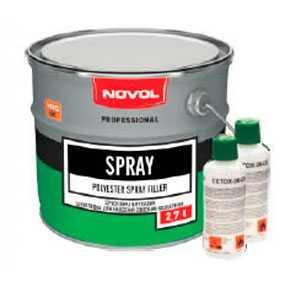 Шпатлевка Spray, наносимая способом распыления (2,7 л), NOVOL