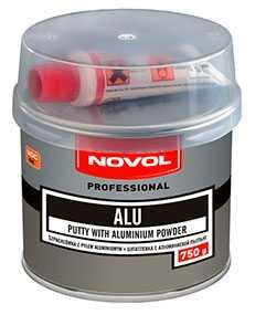 Шпатлевка ALU с алюминиевой пылью (750 гр), NOVOL