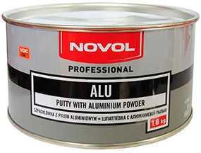Шпатлевка ALU с алюминиевой пылью (1,8 кг), NOVOL