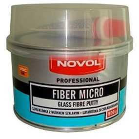 Шпатлевка FIBER MICRO со стекловолокном (500 гр), NOVOL