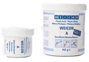 Металлополимер WEIСON A двухкомпонентный пастообразный ремонтный (наполненный сталью)-0,5 кг-WEIСON (Германия)