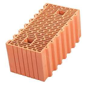 Крупноформатный керамический поризованный блок Porotherm 51