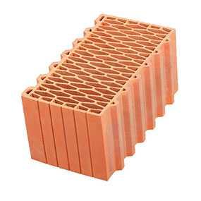 Крупноформатный керамический поризованный блок Porotherm 44 GL