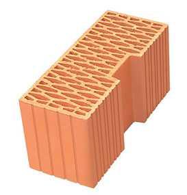 Керамический доборный блок Porotherm 44R