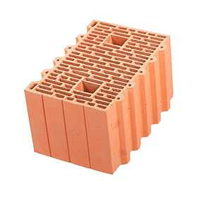 Крупноформатный керамический поризованный блок Porotherm 38 GL
