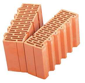 Керамический доборный блок к крупноформатному блоку Porotherm 38 1/2