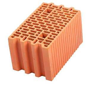 Крупноформатный керамический поризованный блок Porotherm 25