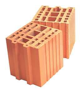 Керамический доборный блок к крупноформатному блоку Porotherm 20 1/2