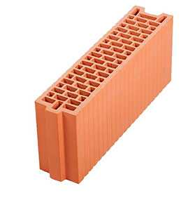 Крупноформатный керамический поризованный блок Porotherm 12