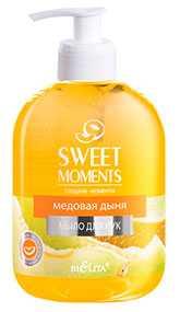 Жидкое мыло для рук Медовая дыня SWEET MOMENTS, Белита-Витэкс