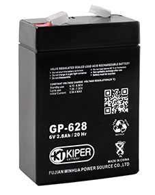 Аккумуляторная батарея 6V/2.8Ah Kiper GP-628 (F1); 65x95x33 (ШхВхГ)-Kiper (Китай)