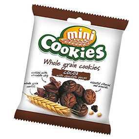 Печенье зерновое Mini Cookies с какао и кусочками шоколада 40 г