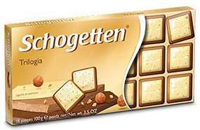 Шоколад Schogetten Trilofia белый с грильяжем и лесными орехами 100 г