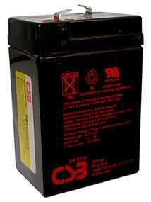 Аккумуляторная батарея 6V/4.5Ah CSB GP 645 (F1); 70x102x48 (ШхВхГ)-CSB Battery (Вьетнам)