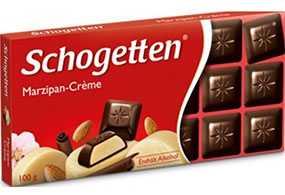 Шоколад Schogetten Marzipan-Cream темный марципаново-кремовой начинкой 100 г