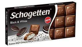 Шоколад Schogetten Black&Wight молочный с начинкой ванильный крем 100 г
