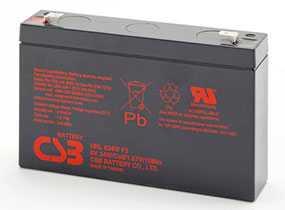 Аккумуляторная батарея 6V/9Ah CSB HRL 634W (F2) FR; 151х94х34 (ШхВхГ)-CSB Battery (Вьетнам)