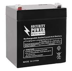 Аккумуляторная батарея 12V/5Ah Security Power SP 12-5 (F1); 90x102x70 (ШхВхГ)-Security Power (Китай)