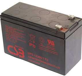 Аккумуляторная батарея 12V/7.5Ah CSB UPS 12360 6 (F2) Slim; 151x94x51 (ШхВхГ)-CSB Battery (Вьетнам)