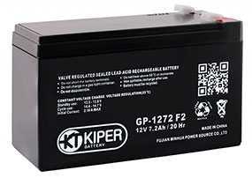 Аккумуляторная батарея 12V/7.2Ah Kiper GP-1272 (F2); 151x94x65 (ШхВхГ)-Kiper (Китай)