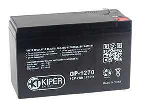 Аккумуляторная батарея 12V/7Ah Kiper GP-1270 (F1); 151x94x65 (ШхВхГ)-Kiper (Китай)