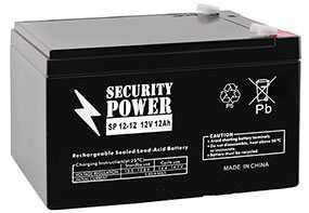 Аккумуляторная батарея 12V/12Ah Security Power SP 12-12 (F2); 151x94x98 (ШхВхГ)-Security Power (Китай)