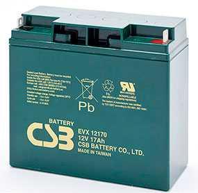 Аккумуляторная батарея 12V/17Ah CSB EVX 12170; 181x167x76 (ШхВхГ)-CSB Battery (Вьетнам)