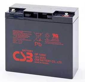 Аккумуляторная батарея 12V/20Ah CSB GP 12200; 181x167x76 (ШхВхГ)-CSB Battery (Вьетнам)