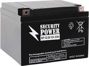 Аккумуляторная батарея 12V/26Ah Security Power SP 12-26; 166x125x175 (ШхВхГ)-Security Power (Китай)