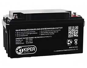 Аккумуляторная батарея 12V/55Ah Kiper GPL-12550; 230x210x137 (ШхВхГ)-Kiper (Китай)