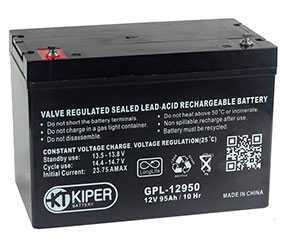 Аккумуляторная батарея 12V/95Ah Kiper GPL-12950; 305x210x167 (ШхВхГ)-Kiper (Китай)