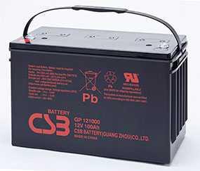 Аккумуляторная батарея 12V/100Ah CSB GP 121000; 343x217x171 (ШхВхГ)-CSB Battery (Вьетнам)