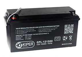 Аккумуляторная батарея 12V/150Ah Kiper GPL-121500; 486x243x171 (ШхВхГ)-Kiper (Китай)