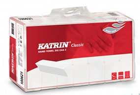 Полотенца бумажные листовые Katrin Classic ZZ, V-сложения, двухслойные, Metsa Tissue (Польша)