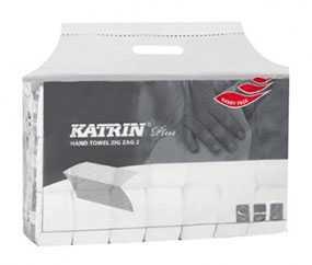 Полотенца бумажные листовые Katrin Plus ZZ, V-сложения, двухслойные, Metsa Tissue (Польша)
