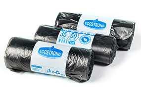 Пакеты для мусора HDPE 35 л, 50 шт, черные (Польша)