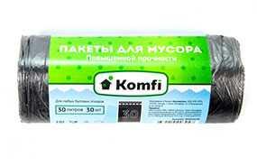 Пакеты для мусора Komfi повышенной прочности, 30 л, 30 шт (Россия)