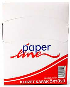 Накладка (покрытие) на сиденье унитаза бумажная одноразовая 100л, 30 шт